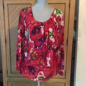 Sheer floral blouse - Anne Klein